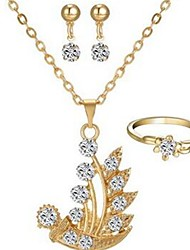 cheap -Women's Jewelry Set - Imitation Diamond Classic, Fashion Include Drop Earrings / Necklace Gold For Daily
