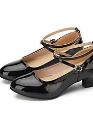 abordables -Femme Chaussures Modernes Faux Cuir Basket De plein air Talon Personnalisé Personnalisables Chaussures de danse Noir