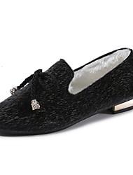 Femme Chaussures Cachemire Automne Moccasin Mocassins et Chaussons+D6148 Bout carré Noeud Pour Décontracté Noir Beige Marron