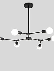 cheap -Northern Europe Vintage Chandelier 6 head Metal Molecules Pendant Lights Living Room Dining Room Bedroom