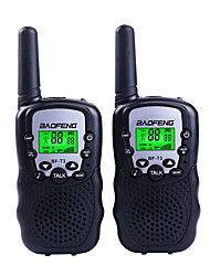 abordables -BAOFENG T3 Talkie-Walkie Portable 1,5 - 3 km 1,5 - 3 km Talkie walkie Radio bidirectionnelle