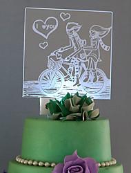 cheap -Cake Topper Romance Acrylic Classic Couple Plastic Sports & Outdoor 53 1 Gift Box