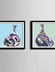 baratos -Vida Imóvel Abstracto Fantasia Quadros Emoldurados Conjunto Emoldurado Arte de Parede,PVC Material com frame For Decoração para casa Arte