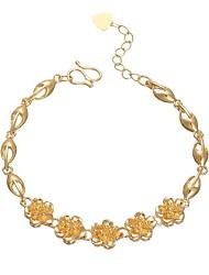 abordables -Femme Adorable Fleur Chaînes & Bracelets - Rétro Or Bracelet Pour Fête scolaire