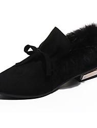 Femme Chaussures Gomme Hiver Confort Mocassins et Chaussons+D6148 Bout pointu Pour Noir Marron Vert