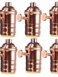 cheap -6 Pcs E26/ E27 Industrial Light Socket Vintage Edison Pendant lamp Metal holder With Knob