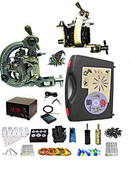 cheap -Basekey Pro Tattoo Kit  Optimus 2 Machines  With Power Supply Grips Cleaning Brush  Needles