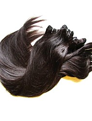 cheap -Brazilian Hair Straight Natural Color Hair Weaves 6 Bundles 8-24inch Human Hair Weaves Natural Black