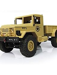 abordables -Coche de radiocontrol  WPL Camioneta Off Road Car Alta Velocidad 4WD Drift Car Buggy Escalada de coches 1:16 Brush Eléctrico 10 KM / H