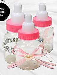 cheap -Circle Plastic Favor Holder with Sash / Ribbon Candy Jars and Bottles - 10