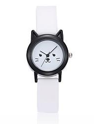 economico -Bambini Creativo unico orologio Cinese Quarzo Silicone Banda Nero Bianco