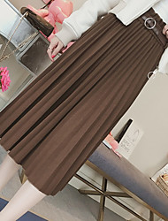 cheap -Women's Street Athleisure Long Length Skirts A Line Solid Fall