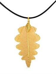 baratos -Mulheres árvore de Natal Formato de Folha Forma Geométrica Árvore da Vida Forma Clássico Vintage Oversized Fashion Europeu Colares com