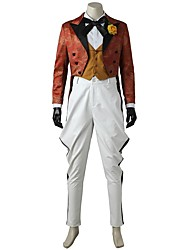 cheap -Burlesque/Clown Cosplay Cosplay Costume Costume Movie Cosplay White Vest Blouse Top Pants Gloves More Accessories Halloween Carnival