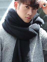 Недорогие -Для мужчин Прямоугольная,Зима Весна Вязаная одежда Однотонный Черный Светло-серый