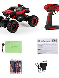 cheap -RC Car 1402 4 Channel 2.4G Off Road Car 1:13 Brush Electric 20 KM/H