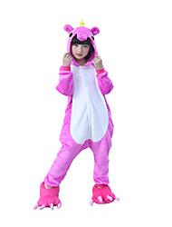 kigurumi Pyjamas Unicorn Cheval volant Costume Rouge Rose Kigurumi Collant / Combinaison Cosplay Fête / Célébration Pyjamas Animale