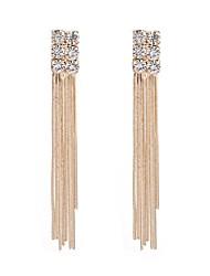 cheap -Women's Tassel Rhinestone Drop Earrings - Tassel / Classic Gold Line Earrings For Party / Ceremony