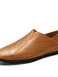 cheap -Men's Shoes PU Summer Light Soles Loafers & Slip-Ons For Casual Dark Brown Light Brown Black