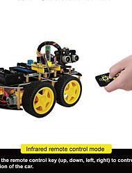 Недорогие -keyestudio 4wd bluetooth многофункциональный diy smart car kit руководство пользователяpdf videocrewdriver для arduino robot car starter