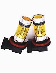 cheap -Super Penetration 100W H8/H9/H11 LED Fog Light 4300K LED Fogproof Fog Light Bulb Yellow Color Lightness(2PCS)