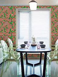 abordables -arbres/Feuilles 3D Fond d'écran pour la maison Moderne Rustique Revêtement , PVC/Vinyl Matériel Ruban Adhésif fond d'écran , Couvre Mur