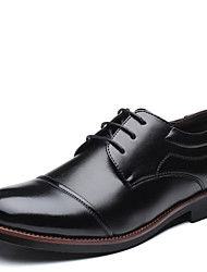 cheap -Men's Shoes Leatherette All Season Formal Shoes Oxfords For Party & Evening Brown Black