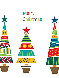 cheap -Christmas Window Sticker Material Window Decoration