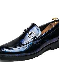 baratos -Homens sapatos Courino Outono Inovador Mocassins e Slip-Ons Preto / Preto / Vermelho / Black / azul