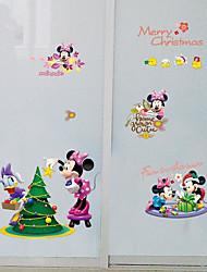 Недорогие -Рождество Наклейки Чай улун Декоративные наклейки на стены,Нетканая материал Украшение дома Наклейка на стену