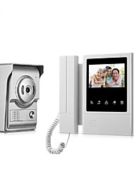 cheap -Handset 4.3Inch Video Doorphone Intercom System with Waterproof Camera