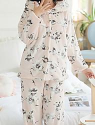 cheap -Women's Suits Pajamas,Animals Cotton Polyester Blushing Pink Light Blue