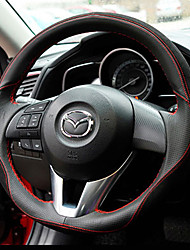 Недорогие -автомобильный Чехлы на руль(Кожа)Назначение Mazda Mazda3 Axela CX5 CX7 CX4 CX9