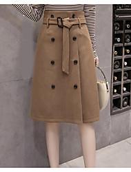preiswerte -Damen Rock Röcke - Solide, Grundlegend