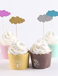 cheap -Cake Topper Classic Theme Baby Shower New Baby Family Birthday Rustic Theme Paper Party Birthday  OPP