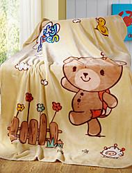 Недорогие -Супер мягкий,Крашенный в пряже Животные Чистый хлопок одеяла