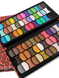 Недорогие -80 цвета Комбинация Тени / Пудры порошок Повседневный макияж
