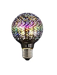 cheap -1pc G80 E27 4W 3D Fireworks Decorative Edison Bulb Party Holiday Decoration Light AC85-265V