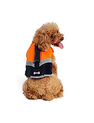 Cachorro Colete Salva-Vidas Roupas para Cães Casual / desportivo Sólido Laranja Verde Ocasiões Especiais Para animais de estimação