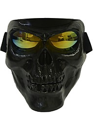 cheap -Plastic Halloween Protective Skull Skeleton Mask Outdoor Full Face