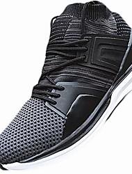 メンズ 靴 PUレザー 秋 冬 コンフォートシューズ アスレチック・シューズ ランニング 用途 スポーツ カジュアル ブラック グレー