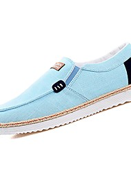 cheap -Men's Shoes PU Fabric Spring Fall Comfort Loafers & Slip-Ons For Casual Light Blue Black/Red Gray