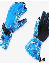 Лыжные перчатки Универсальные Полный палец Сохраняет тепло Водонепроницаемость Хлопок Лыжи Трейлраннинг Зима