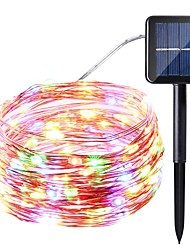 Solar power Supply String Light 10 Meters 100 Lights Silver Line Lights Star String Lights Indoor Outdoor Waterproof Solar Decorative Lights Garden