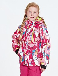 abordables -Garçon Fille Veste de Ski Chaud Ventilation Pare-vent Vestimentaire étanche Ski Multisport Sports d'hiver Après Ski Polyester Filet