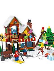 Недорогие -AUSINI Конструкторы Конструкторы Игрушки Обучающая игрушка 1 pcs Домики Лошадь совместимый Legoing Рождество Мальчики Девочки Игрушки Подарок