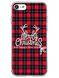 Case For Apple iPhone 8 iPhone 8 Plus Pattern Back Cover Christmas Soft TPU for iPhone X iPhone 8 Plus iPhone 8 iPhone 7 Plus iPhone 7