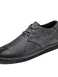 baratos -Homens sapatos Courino Inverno Botas da Moda / Conforto Tênis Preto / Cinzento