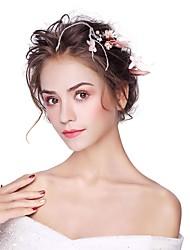 Недорогие -искусственный цветок из перьего сплава 3шт головной убор классический женский стиль