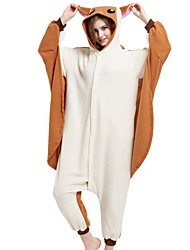 Kigurumi Pajamas Squirrel Mouse Flying Squirrel Onesie Pajamas Costume Polar Fleece Brown Cosplay For Adults' Animal Sleepwear Cartoon